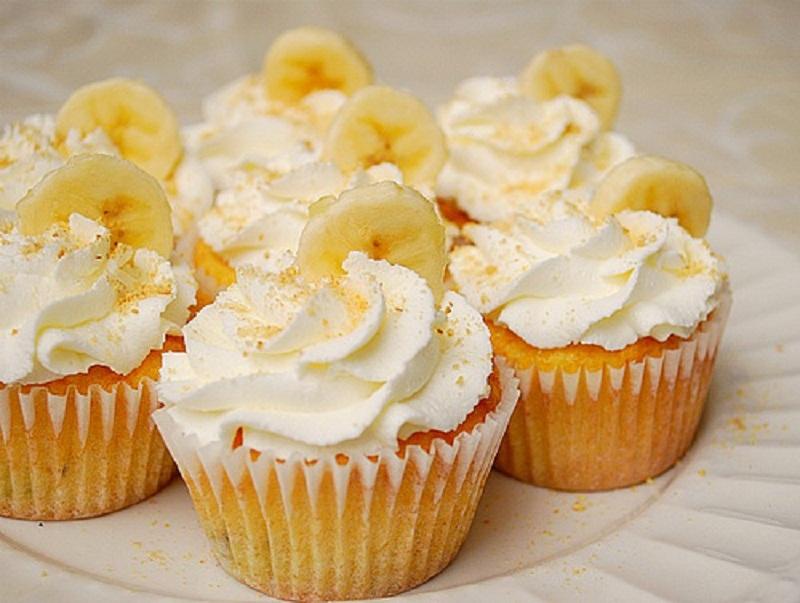 Рецепт капкейков с бананом с пошагово